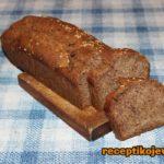 Raženi integralni hleb bez kvasca